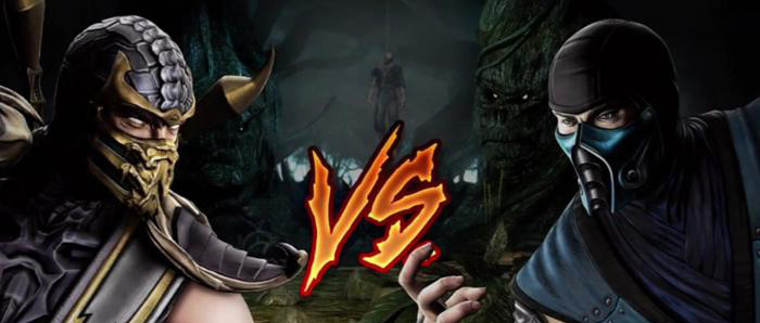 Image of Scorpion vs Subzero to show the battle of Blogger vs WordPress battle