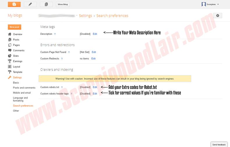 Blogger vs WordPress Blogspot Search Preference