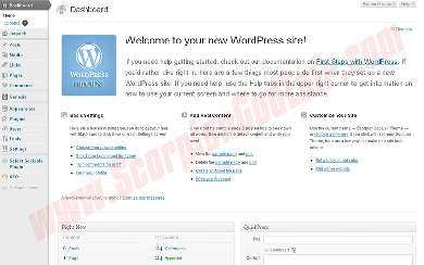 Blogger vs WordPress WP Dashboard