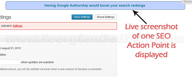 SEO Advicer Live Action Screenshot