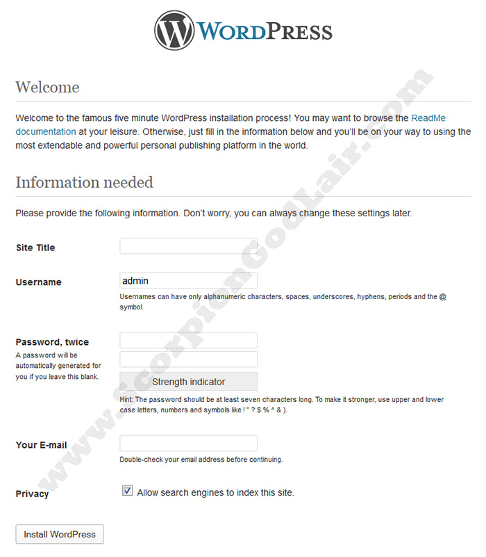 How to install WordPress manually with cPanel