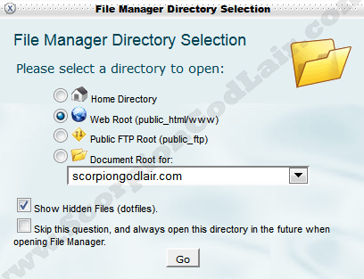 Image of cPanel File Manager