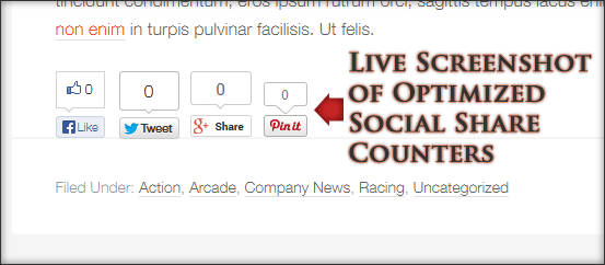 Live demo of the Genesis optimized social share plugin